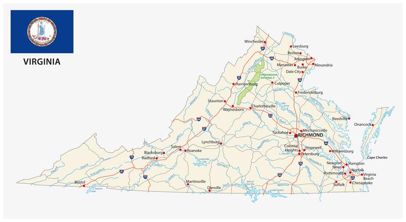 Alexandria VA City Map Dumpster Rentals